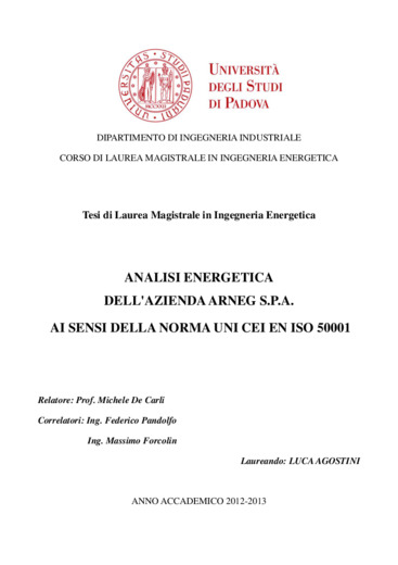 Analisi energetica dell