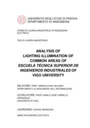 Analisi illuminotecnica delle zone comuni della Escuela Técnica Superior de