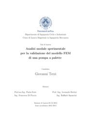 Analisi modale sperimentale per la validazione del modello FEM di