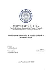 Analisi remota di usabilita di applicazioni web su dispositivi mobili