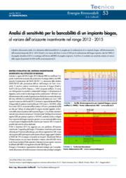 Analisi sensitività per la bancabilità di un impianto biogas, al