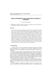 Analisi sperimentale delle relazioni tra perdite e pressioni