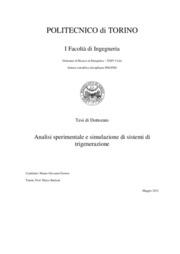 Analisi sperimentale e simulazione di sistemi di trigenerazione