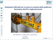 Analizzatore MicroGC per la misura in continuo della qualità del