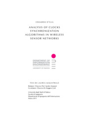 Analysis of clocks synchronization algorithms in wireless sensor networks