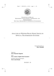 Analysis of Wiener phase noise issues in optical transmission systems