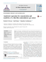 Analytical expression for concentration and sensitivity of a thin film
