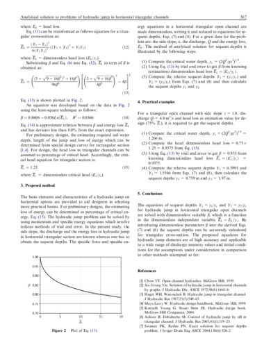 Analytical solution to problems of hydraulic jump in horizontal triangular