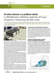 Antica soluzione a un problema attuale: raffreddamento adiabatico applicato all'acqua