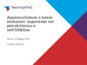 Apparecchiature a basse emissioni: esperienze nel petrolchimico e nell'Oil&Gas