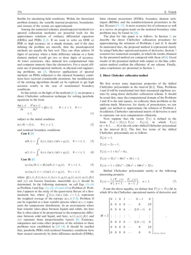 Application of Chebyshev collocation method for solving two classes of