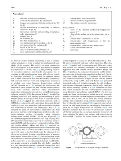 Application of homotopy perturbation method for a conductive–radiative fin with