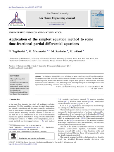 Application of the simplest equation method to some time-fractional partial