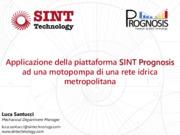 Applicazione della piattaforma SINT Prognosis ad una motopompa di una