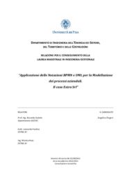 Applicazione delle notazioni BPMN e UML per la modellazione dei