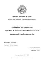 Applicazione delle tecnologie di agricoltura di precisione nella coltivazione del