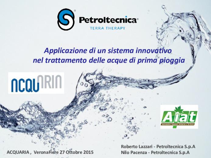 Applicazione di un sistema innovativo nel trattamento delle acque di