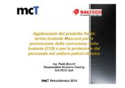 Applicazioni del prodotto fluido termo-isolante Mascoat per la prevenzione della