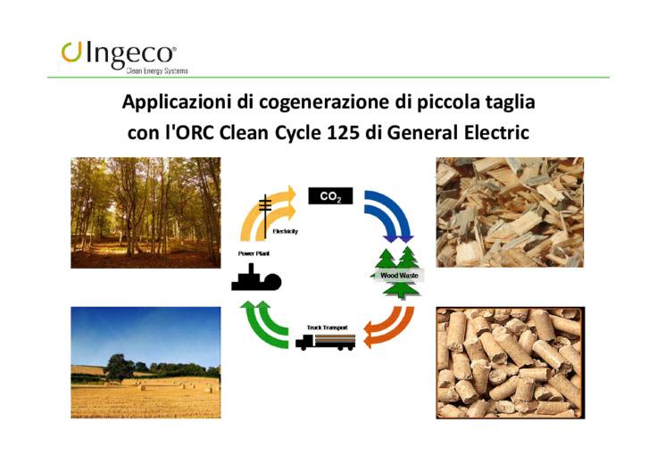Applicazioni di cogenerazione di piccola taglia con l'ORC clean cycle