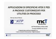 Applicazioni di specifiche ATEX e PED a package customizzati per