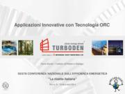 Applicazioni Innovative con Tecnologia ORC