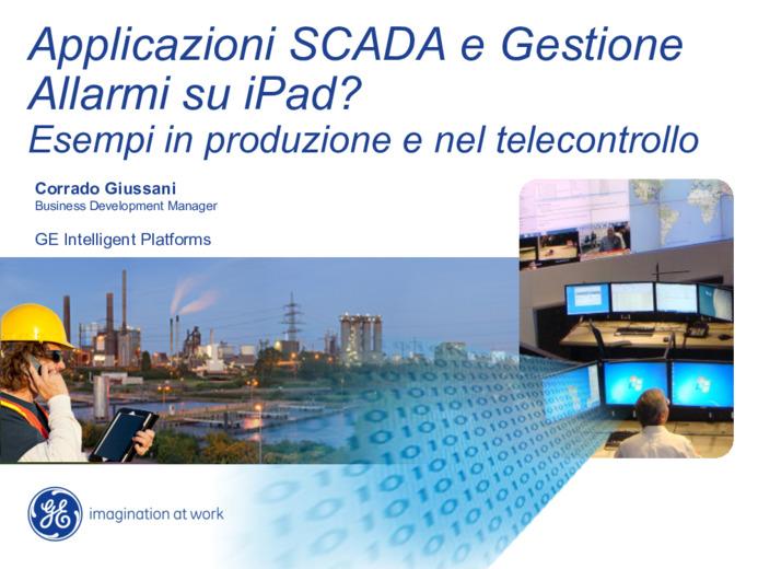 Applicazioni SCADA e Gestione Allarmi su iPad? Esempi in produzione