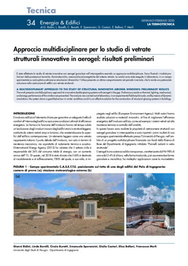 Approccio multidisciplinare per lo studio di vetrate strutturali innovative in