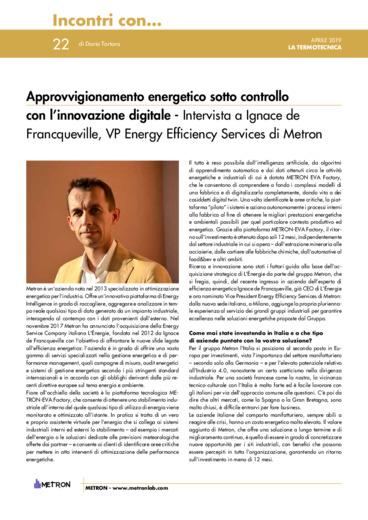 Metron - Approvvigionamento energetico sotto controllo con l