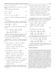 Approximate solutions of the equation of motion's of the rigid