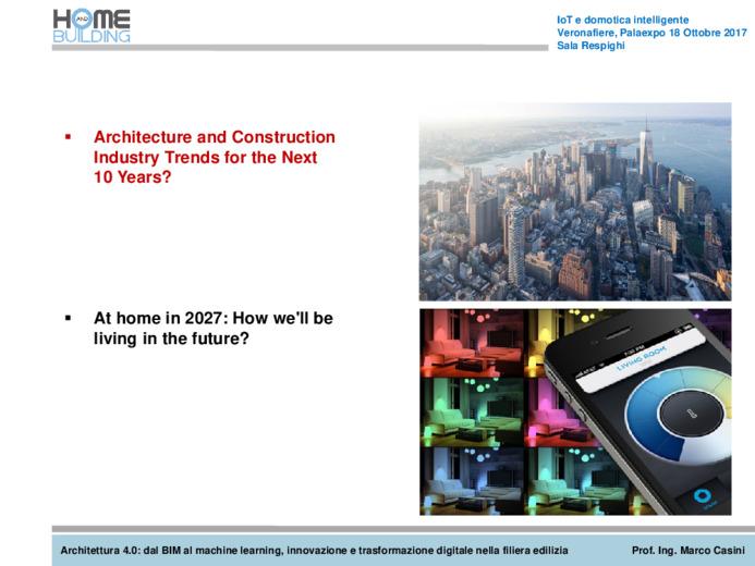 Architettura 4.0: dal BIM al machine learning, innovazione e trasformazione