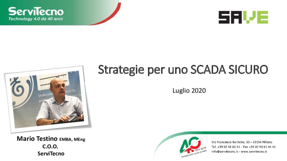 Architetture e accorgimenti per uno SCADA sicuro