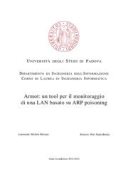Armot: un tool per il monitoraggio di una LAN basato