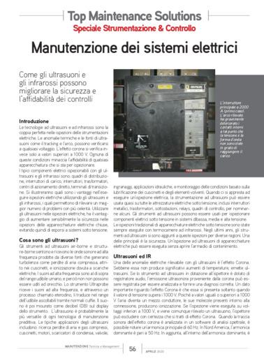 Articolo: Manutenzione dei sistemi elettrici