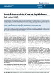 Aspetti di sicurezza relativi all'esercizio degli idrolizzatori degli impianti DeNOX