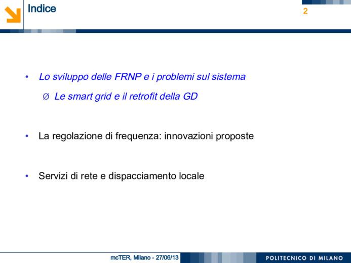 Aspetti regolatori pertinenti il (futuro) dispacciamento sulla rete di distribuzione