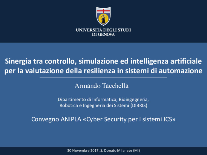 Assessing Resilience of Cyber-Physical Systems: Control, Simulation and AI join