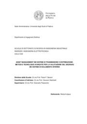 Asset management nei sistemi di trasmissione e distribuzione: valutazione del