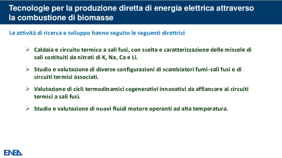 Assetti impiantistici cogenerativi innovativi nell'utilizzo delle biomasse