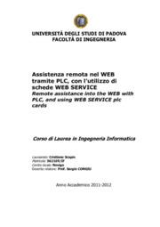 Assistenza remota nel web tramite PLC, con l'utilizzo di schede