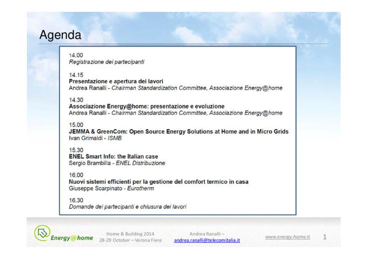 Associazione Energy@home: presentazione e evoluzione