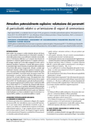 Atmosfere potenzialmente esplosive: valutazione parametri di pericolosità relativi a un'emissione