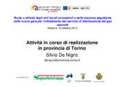 Attività in corso di realizzazione in provincia di Torino