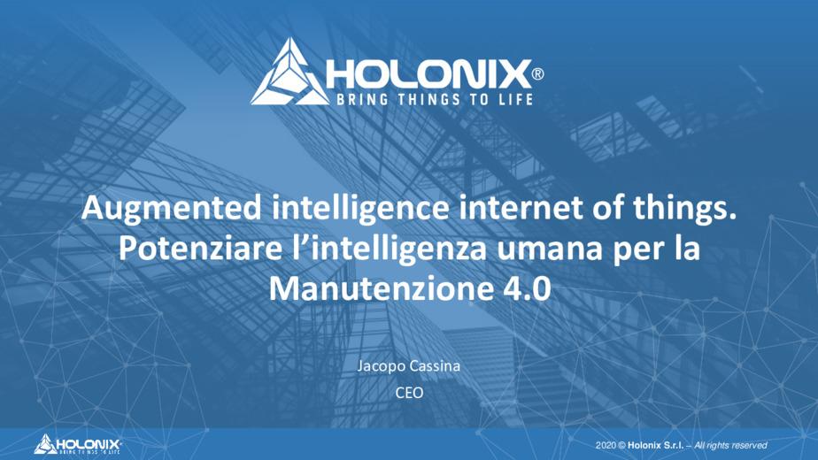 Augmented intelligence internet of things. Potenziare l