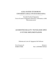 Augmented reality: tecnologie open e future implementazioni