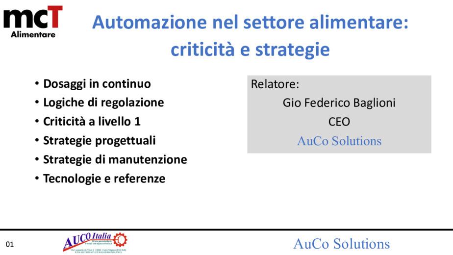 Automazione della produzione nell'industria alimentare: strategie e criticità