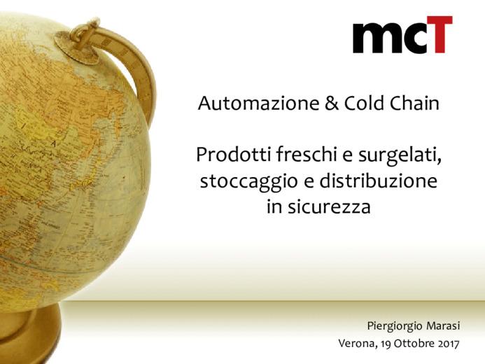 Automazione e catena del freddo: prodotti freschi e surgelati, stoccaggio