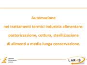 Automazione nei trattamenti termici industria alimentare: pastorizzazione, cottura, sterilizzazione di