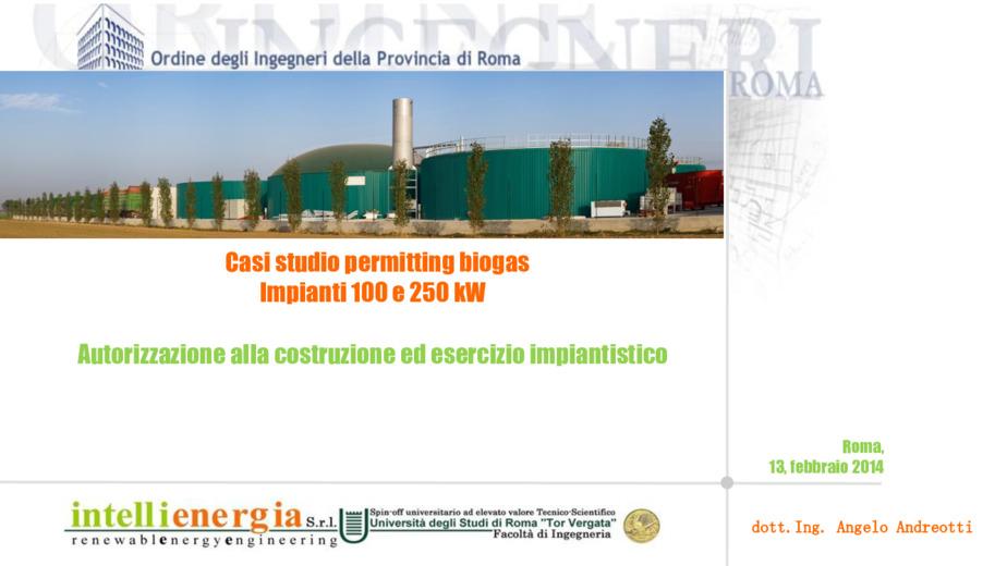 Autorizzazione alla costruzione ed esercizio impiantistico