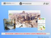 Benessere ambientale ed implicazioni progettuali