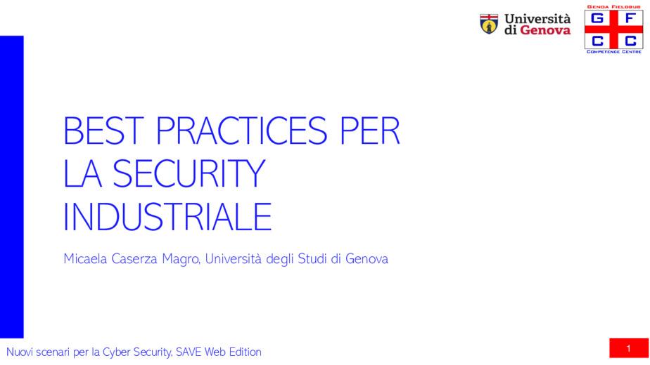 Best practices per la security industriale
